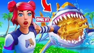 SHARK LOOT *ONLY* Challenge in Fortnite!
