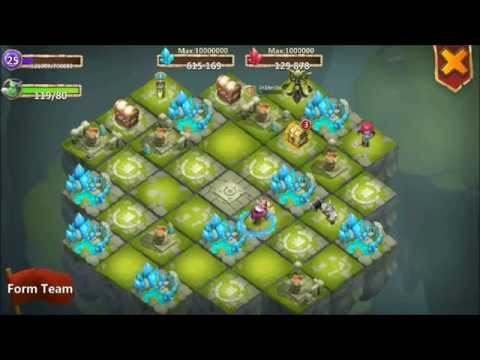 Castle Clash Lost Realm Level 25 Game Play Nice Merchants Plus MinoTaur Raids