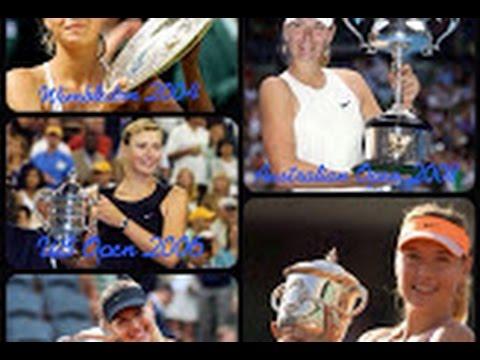 Maria Sharapova - All 5 winning Grand Slams moments