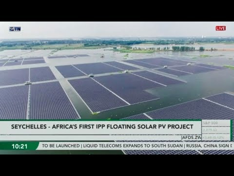 The floating solar farm in the Seychelles