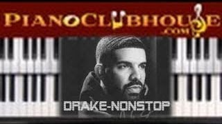 """Video 🎹 How to play """"NONSTOP"""" by Drake (easy  piano tutorial lesson) download MP3, 3GP, MP4, WEBM, AVI, FLV Agustus 2018"""