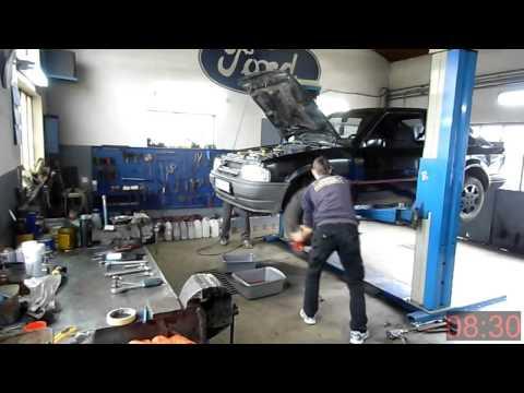 Removing Ford Escort engine