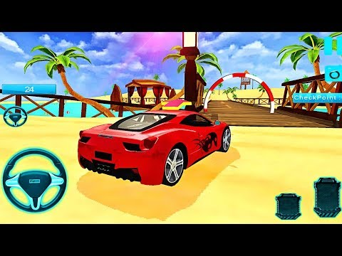 Water Surfer Car Floating Stunt Race | Cars For Kids - Android GamePlay | Videos For Children