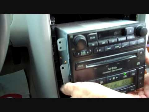 How to Kia Amanti Car Stereo Removal 2004  2006 replace