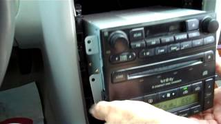 How to Kia Amanti Car Stereo Removal 2004 - 2006 replace tape 6 cd changer Infinity