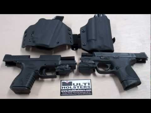 Holsters for Crimson Trace Lights and Lasers - YouTube