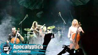 Apocalyptica en Bogota 2012 - I Don't Care & Hall of the Mountain King