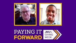 Paying It Forward: Anne Collins ('67, '78M) and JMU senior Norman Jones III