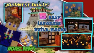 15 Easy Japanese Build Hacks - Minecraft Build Hints & Tips -  Simple Japanese Build Ideas