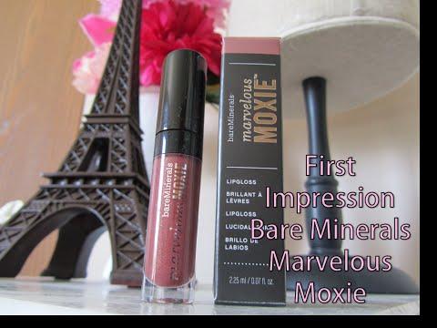 Bare Minerals Marvelous Moxie Lip Gloss | First Impression