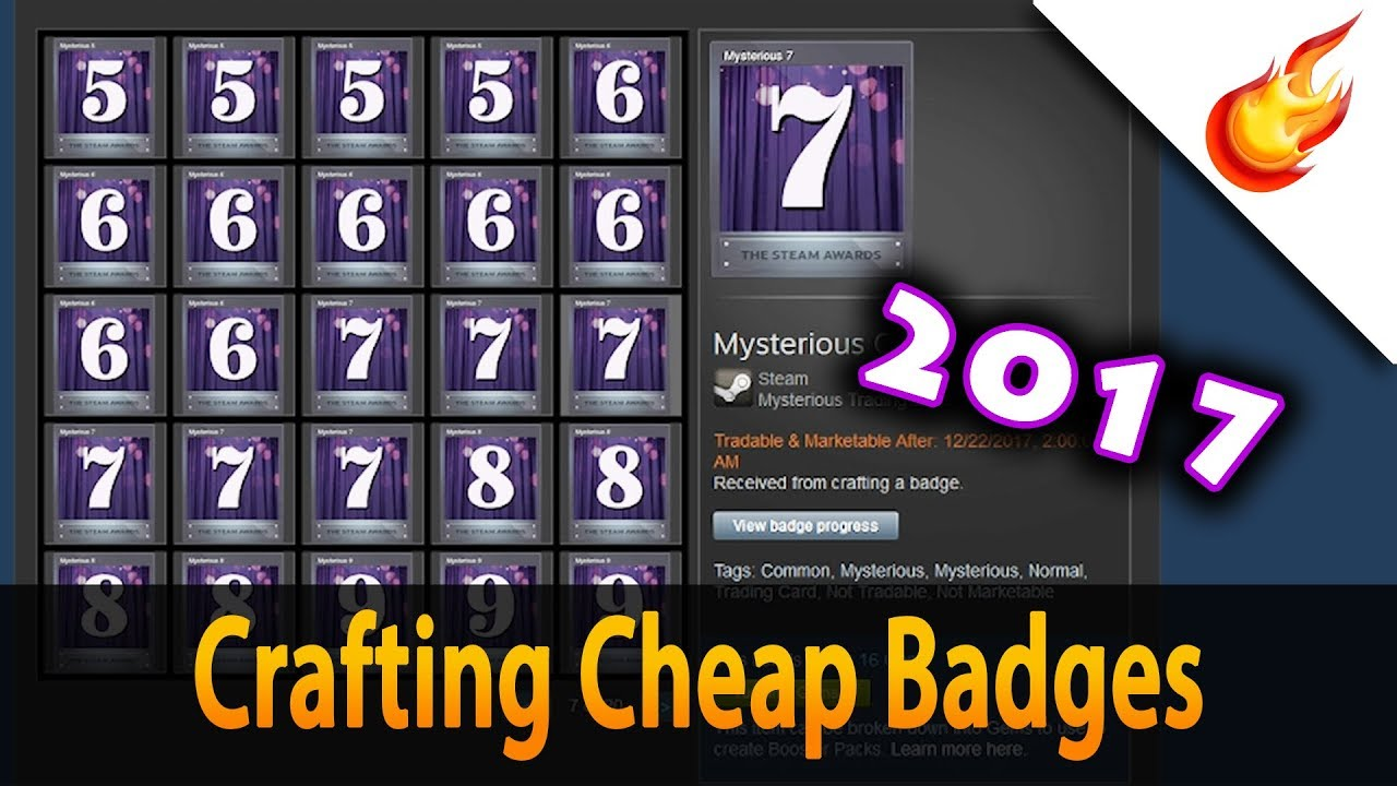 How to make badges on steam - YouTube