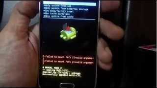 Flash rom via recovery
