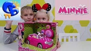 Машина на радиоуправлении Мини Маус Дисней распаковка Car with radio control Minnie Mouse Disney