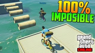 100% IMPOSIBLE! TRONCOS FLOTANTES!!! - Gameplay GTA 5 Online Funny Moments (Carrera GTA V PS4)