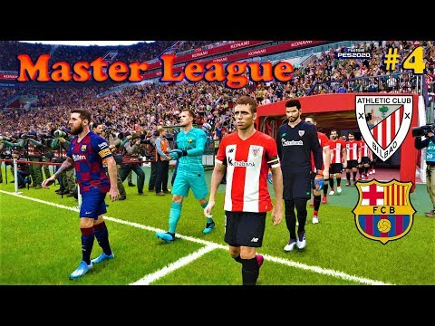 PES 2020 | Athletic Bilbao vs Barcelona | Master League #4 ...