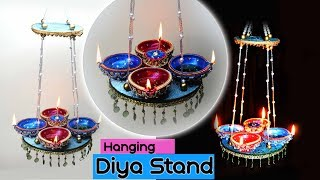How to make : Hanging Diya Stand | Diwali Special | Art with Creativity
