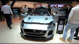 JAGUAR F-TYPE SVR 575 COUPE COMPILATION SILVER COLOUR WALKAROUND + INTERIOR