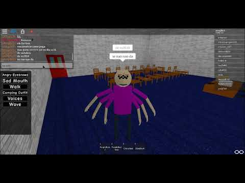 Como Pegar O Spider Baldi No Roblox Baldi S Roleplay 3d Youtube