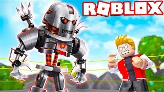 I FACED THE GIANT TITAN ROBOT IN ROBLOX!
