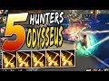 Smite: 5 Hunters with Odysseus Bow on Arena