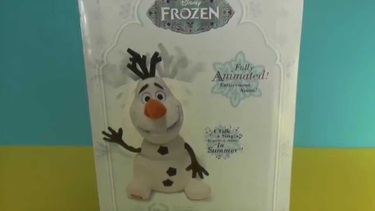 Frozen Musical Singing Olaf Toy Review Disney Store