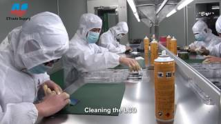 This is how they refurbish Iphone and Samsung Galaxy Lcd in China