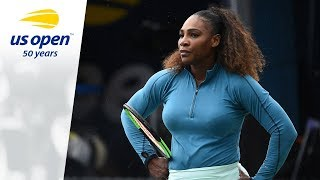 Serena Williams on the 2018 US Open Tennis Practice Courts