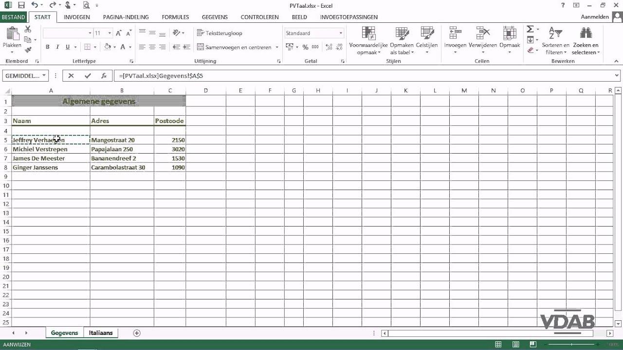 Excel 2013 104 3d Verwijzingen Andere Werkmap