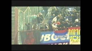 Ultras Serbia interrupted match Italy-Serbia - october 12 2010