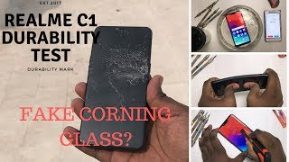 Realme C1 -Durability test- Drop test, Bend test, Screen test, Scratch test, Water & Flame test
