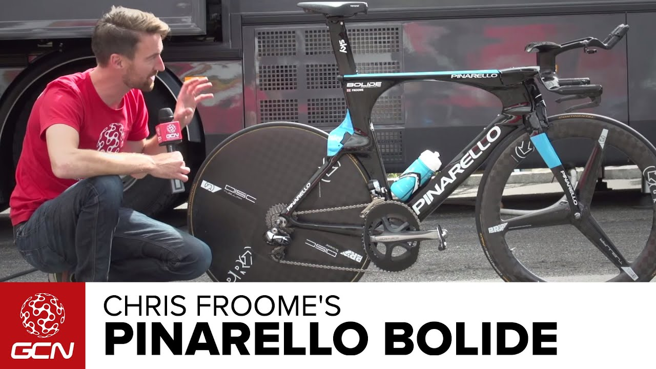 Chris Froome S Team Sky Pinarello Bolide Time Trial Bike Youtube