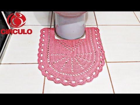 Jogo de Banheiro de Crochê Fácil - Tapete Pé do Vaso