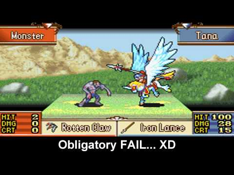 Fire Emblem: Falcoknight with Staff Custom Animation (with Xeld's Animation fix patch) FE8 Edition