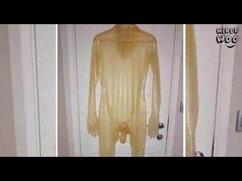 Latex body condom well