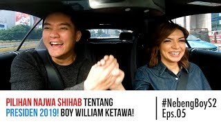 Download lagu Pilihan Najwa Shihab tentang presiden 2019! Boy William ketawa! - #NebengBoy S2 Eps. 5