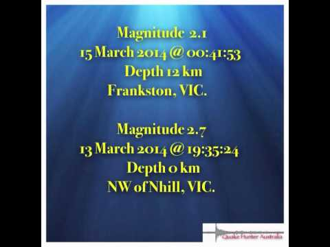 """Victorian Earthquake/Tremor """"Pattern"""" as Observed by Quake Hunter Australia"""