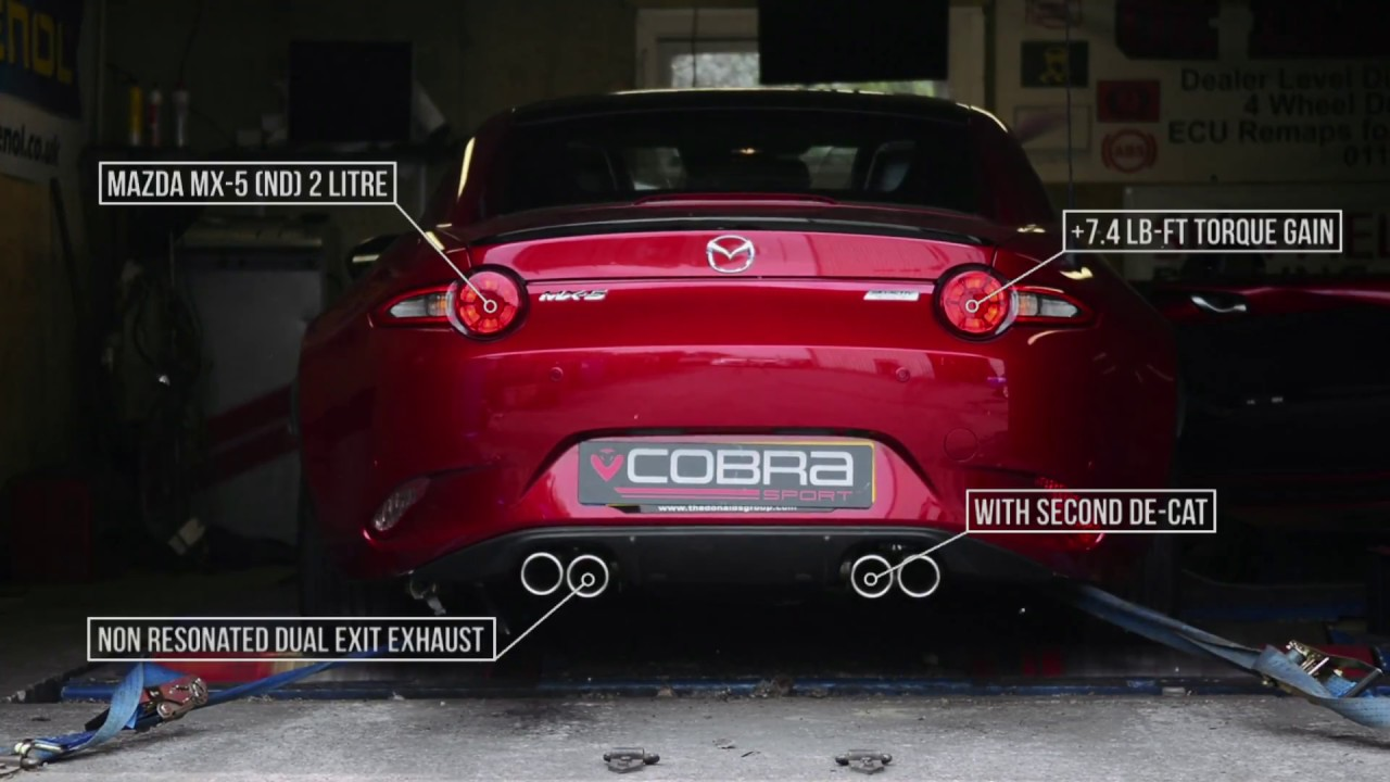 Rolling Road Power Testing Mazda Mx 5 Nd 2 0 Dual Exit