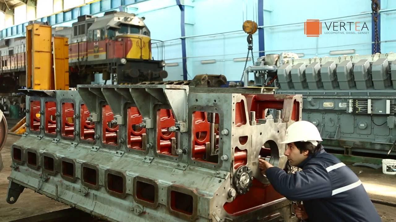 Vertea Maintenance Of A 4300 Hp Locomotive Diesel Engine