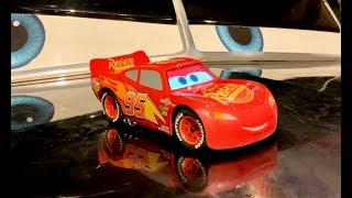 Disney Cars in Real Life Night Tour - Sphero Lightning McQueen Drift Racing To Visit His Friends