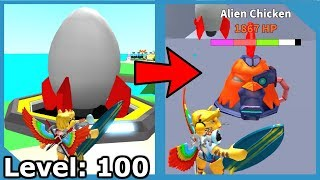 NEW ROCKET UPDATE + REACHING LEVEL 100 | ROBLOX EGG FARM SIMULATOR