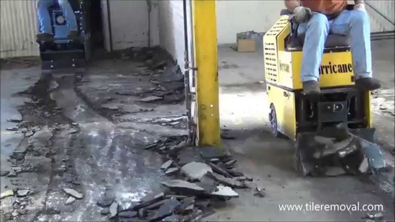 Asphalt Removal By A Hurricane And Twister Floor Scraper