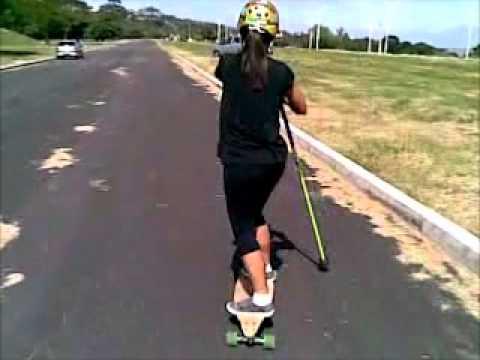 Paddle Skateboarding