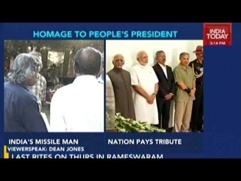 India Bids Abdul Kalam Goodbye At Official Residence