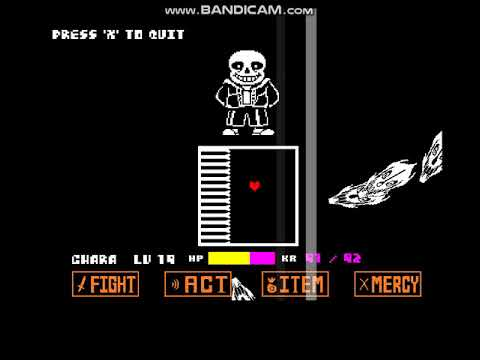 Sans really bad time simulator - Finishing final attack with hacks