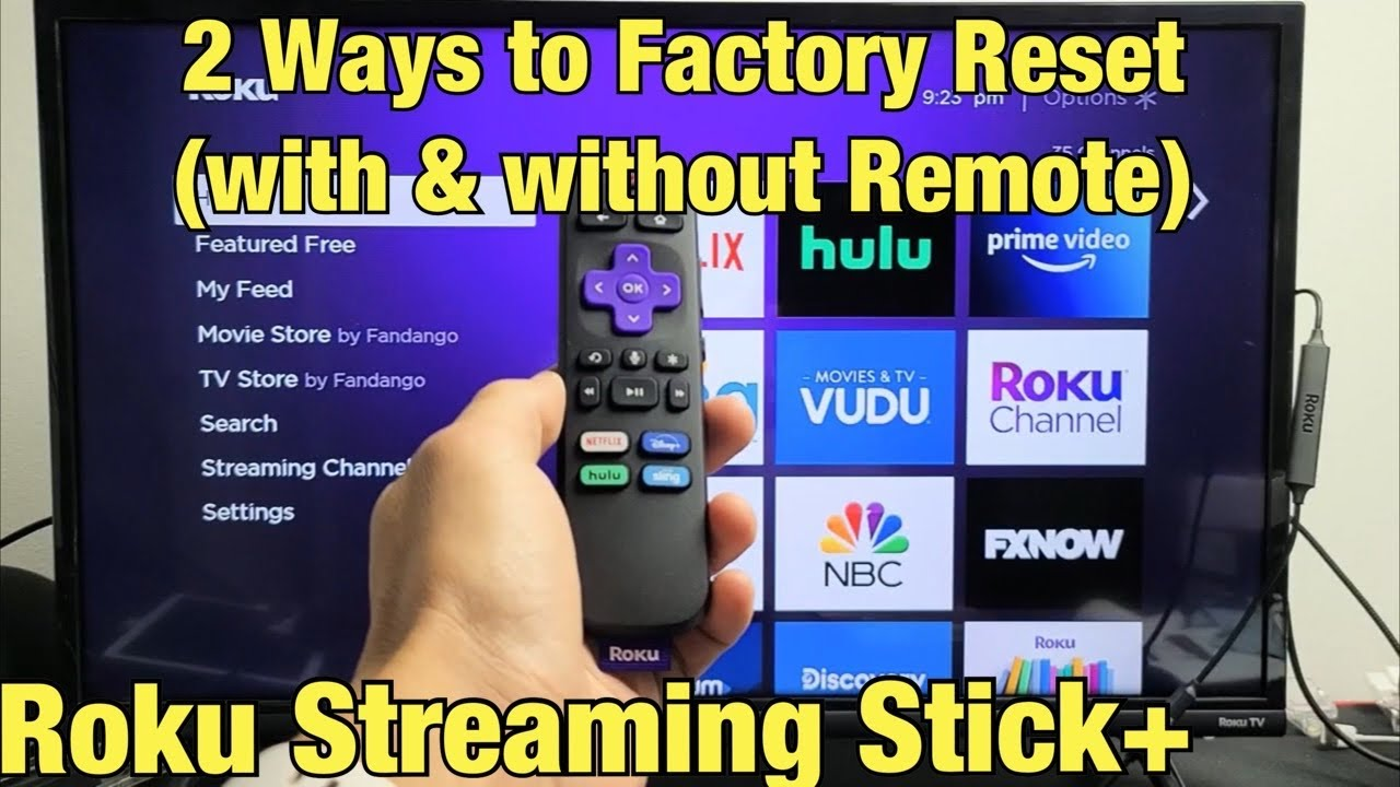 28 Ways to Factory Reset Roku Streaming Stick+ (with & without remote)