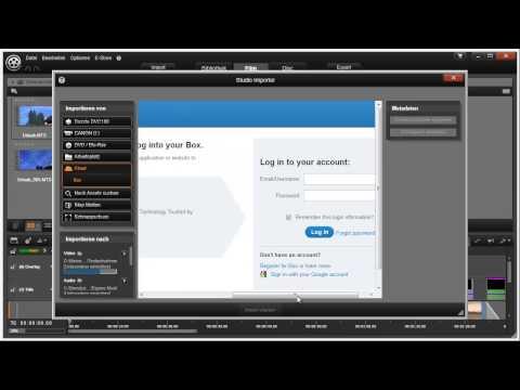 box.com einrichten und nutzen in Pinnacle Studio 16 und 17 Video 4 von 114