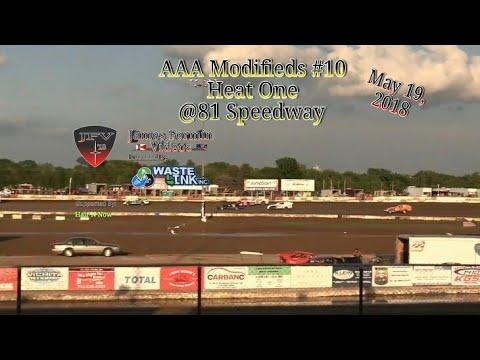 AAA Modifieds #10, Heat 1, 81 Speedway, 2018