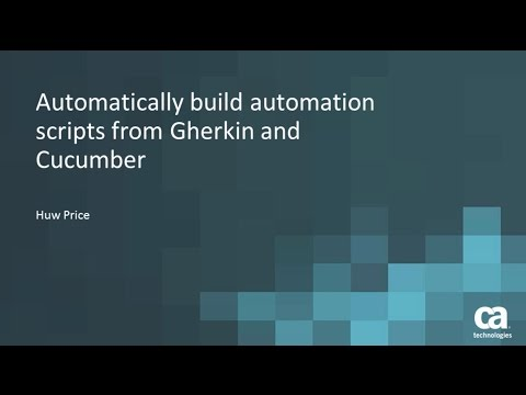Automatically Build Automation Scripts from Gherkin and Cucumber