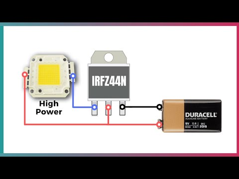 Simple LED Flasher Circuit With IRFZ44N