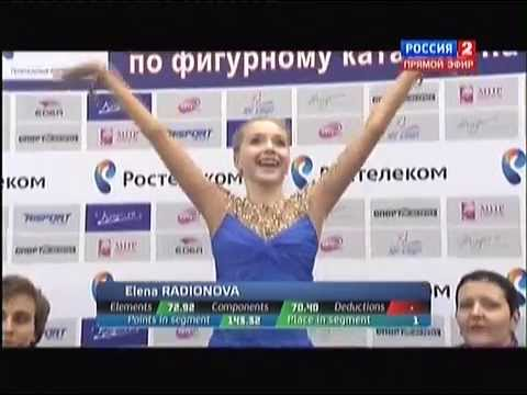 Чемпионат России по фигурному катанию 2015. FS. Елена Радионова